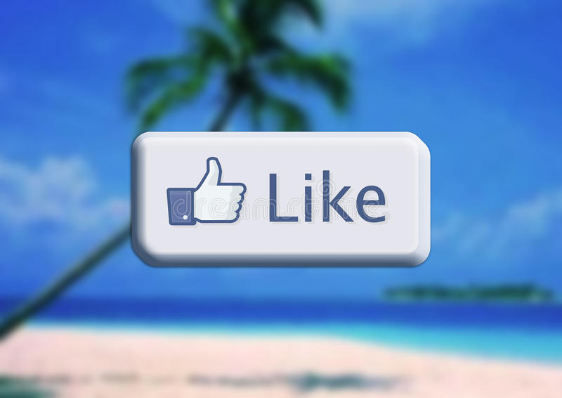 Facebook que eu gosto ilustração do vetor