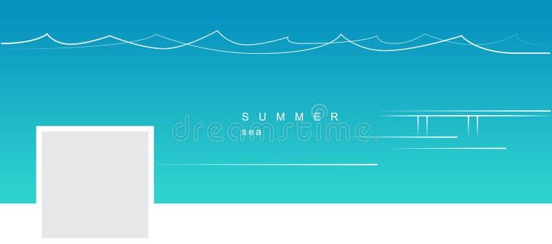 Facebook räkning med en linjär bild för minimalistic vektor stock illustrationer