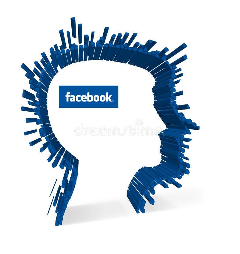 Facebook - reconhecimento facial ilustração stock