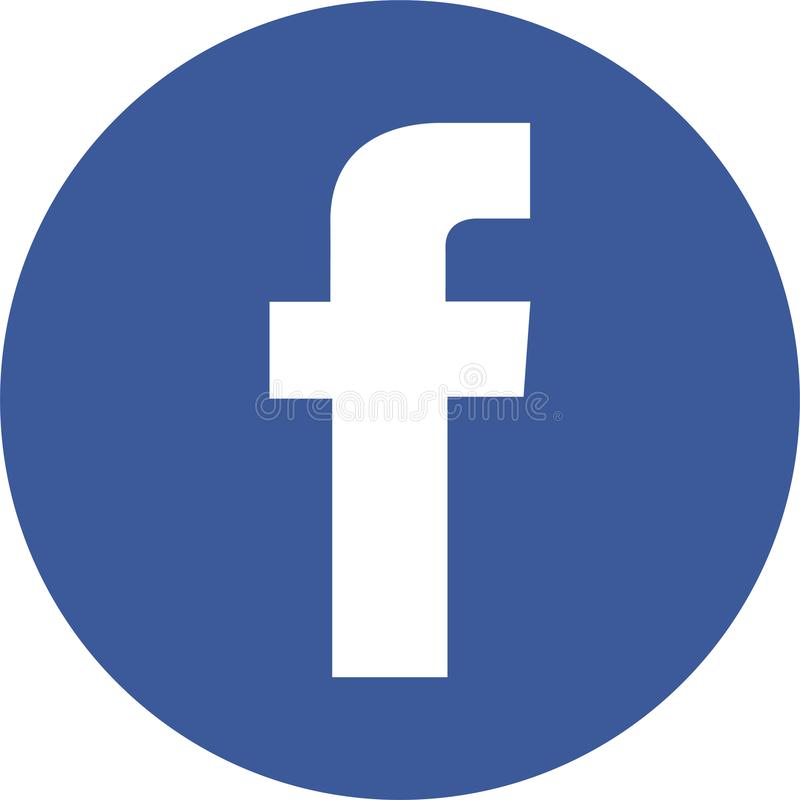 Facebook round icon new logo. Facebook, Inc. is an American online social media and social networking service company. It is based in Menlo Park, California. Its stock illustration