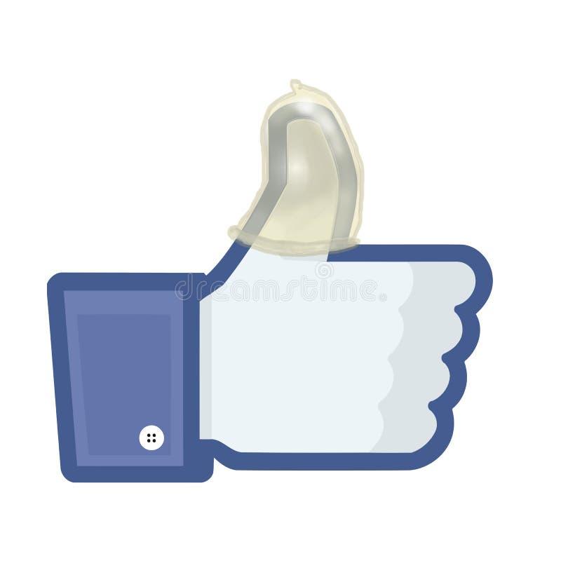 Facebook security vector illustration