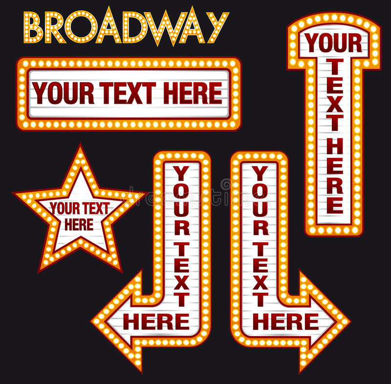 Marquee Alphabet Font Letters In Broadway Billboard Sign