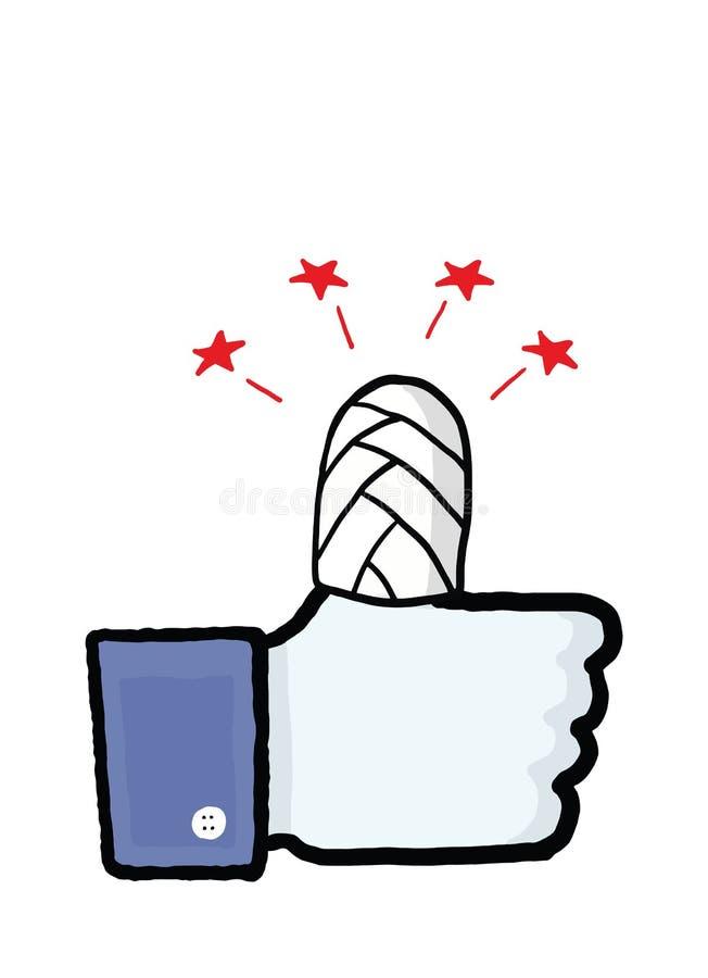 Facebook-Sicherheitsbegriffsbild stock abbildung