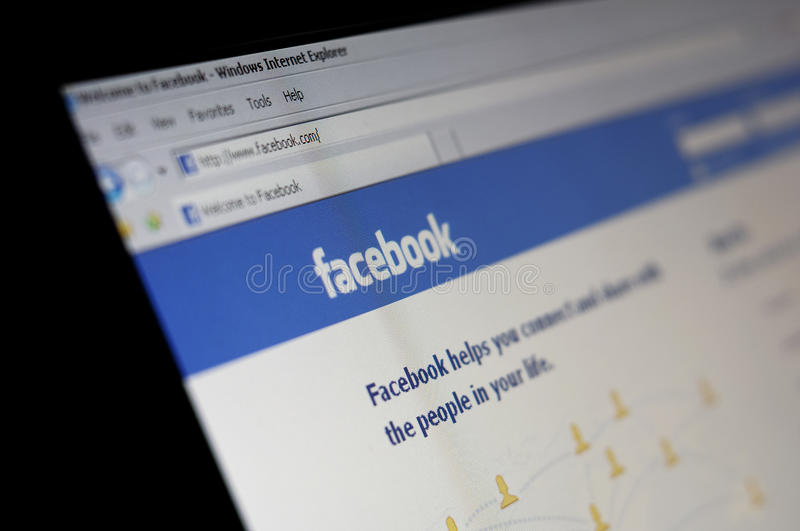 Facebook social network royalty free stock photography