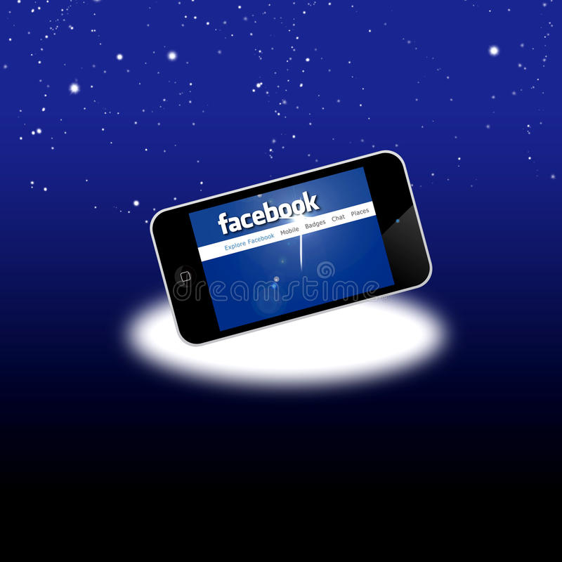 Facebook Social Network On Mobile Iphone 4S Editorial Stock Image