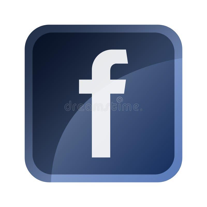 Facebook symbol, symbol, tumnagel, knapp royaltyfri illustrationer