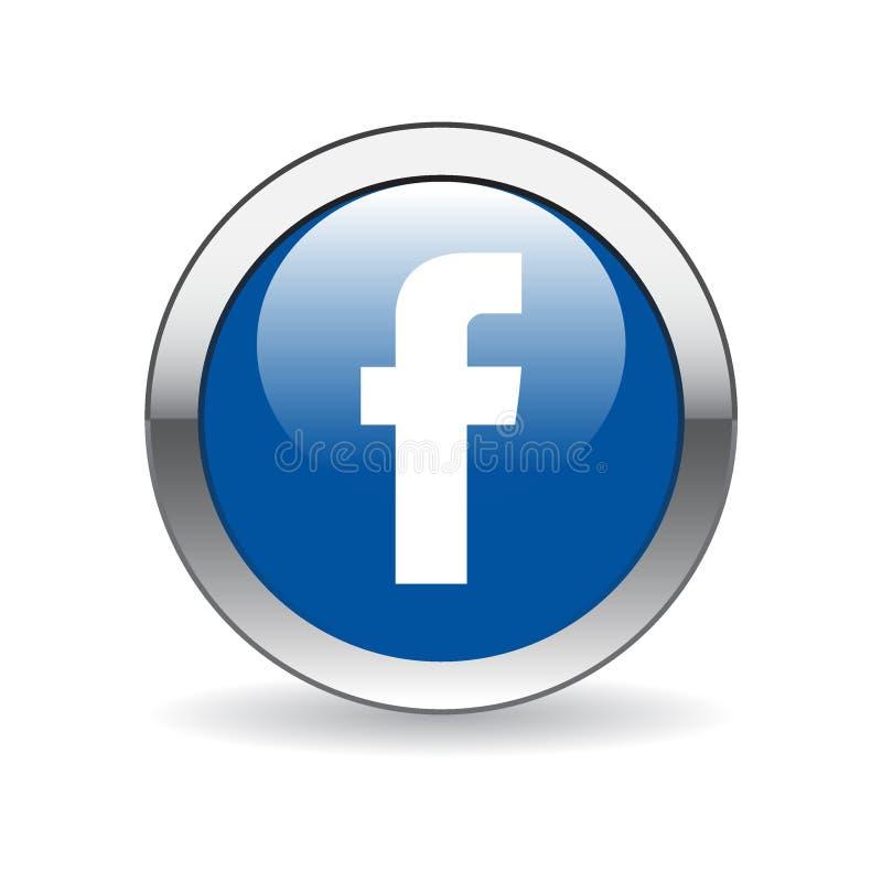 Facebook symbolsknapp vektor illustrationer