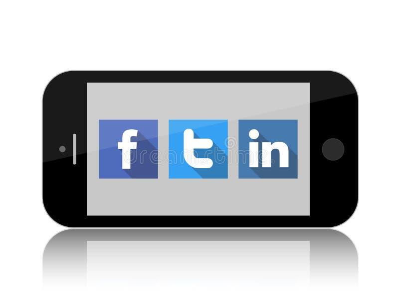 Facebook, Twitter e Linkedin