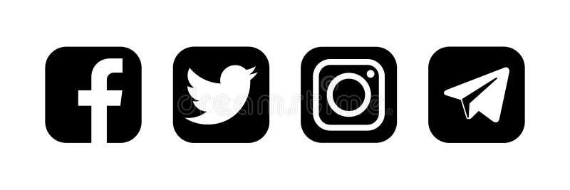 Facebook Twitter Instagram Telegram - Collection Of Popular Social Media  And Messenger. Kyiv, Ukraine - January 31, 2020 Editorial Image -  Illustration of popular, january: 174208120