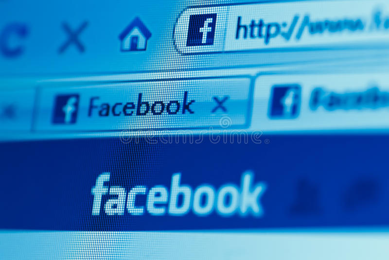 Facebook website royalty free stock photos
