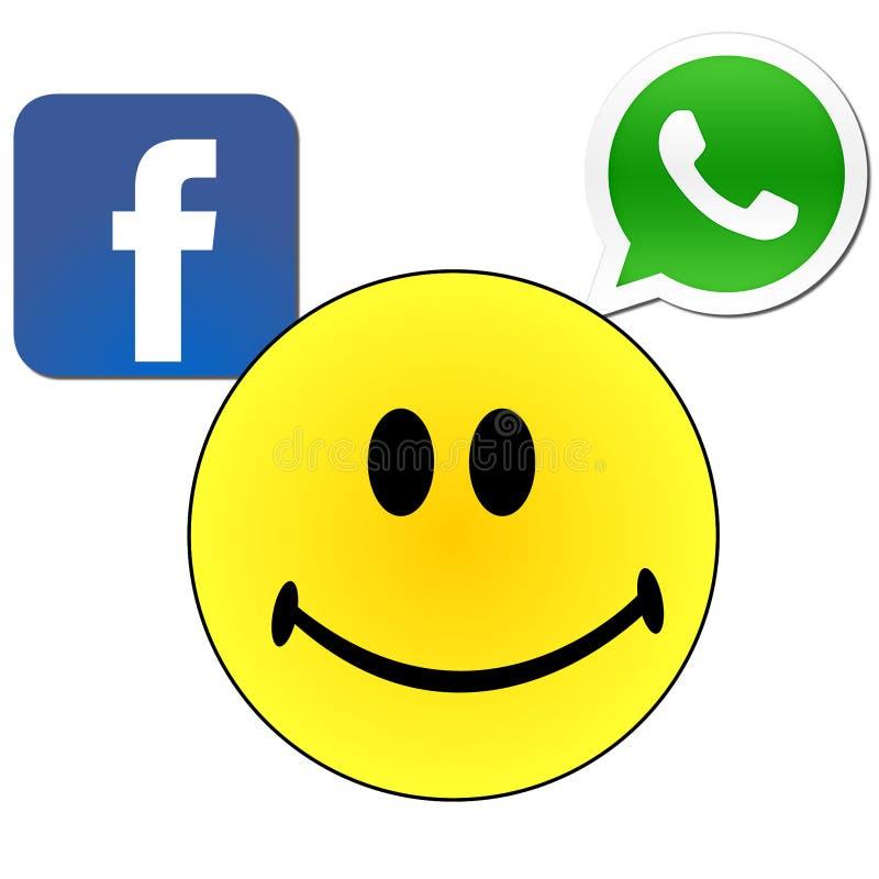 Facebook whatsapp stock foto's