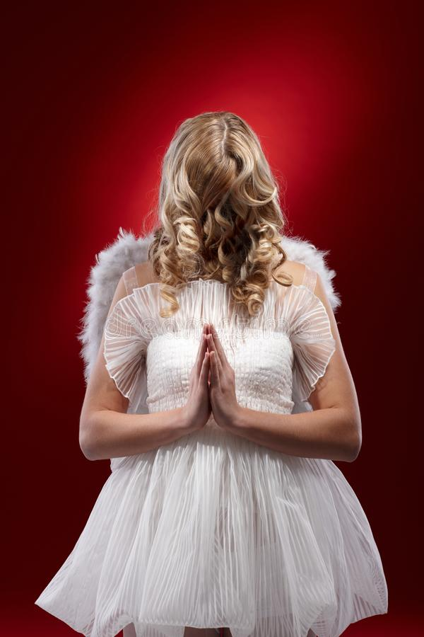 Download Faceless angel praying stock image. Image of female, color - 28598879