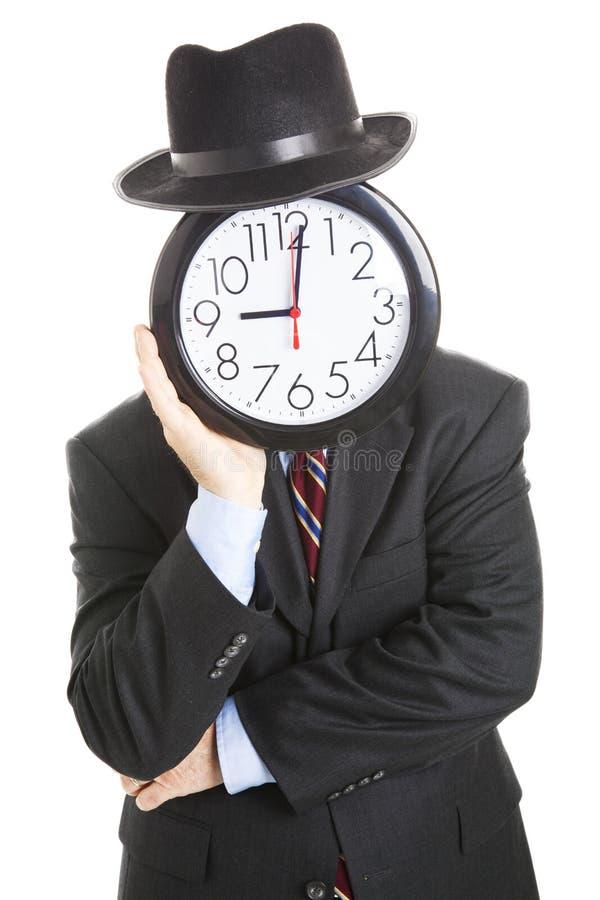 Faceless Businessman - Bored stock image