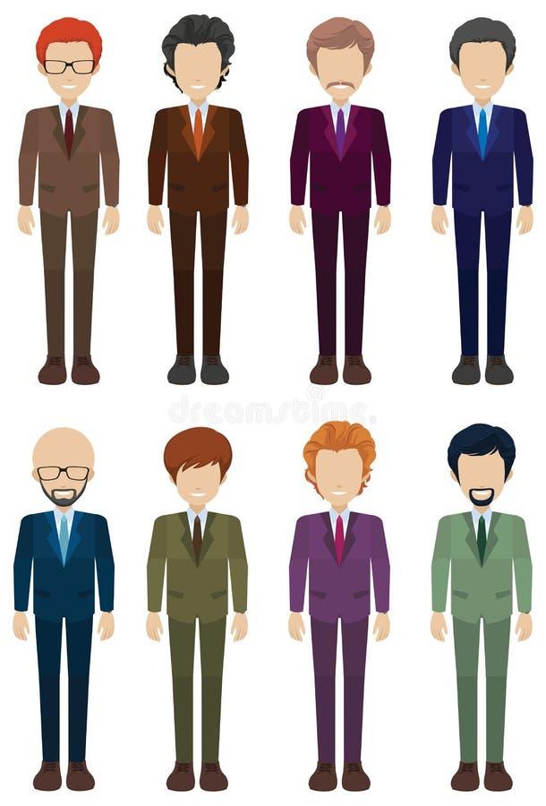 Faceless businessmen. On a white background stock illustration