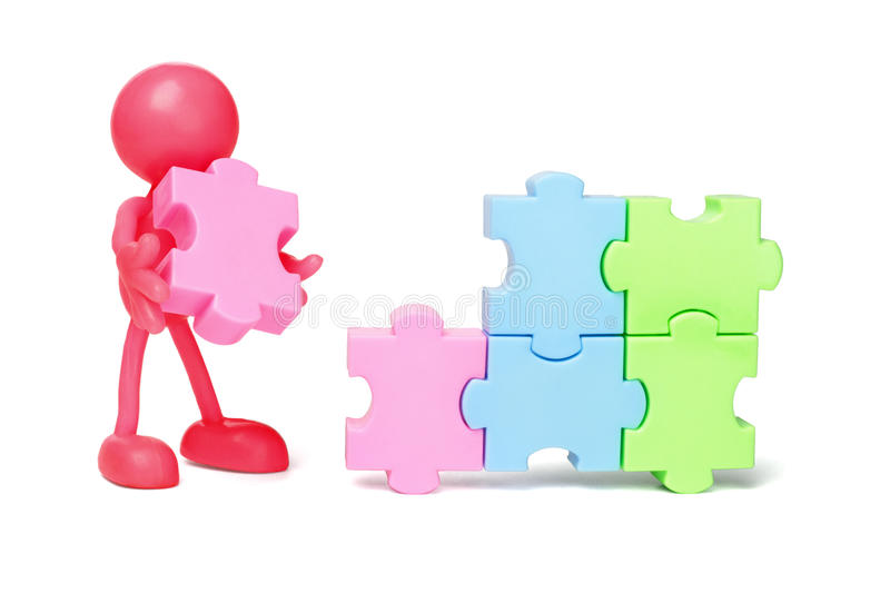 Download Faceless Figurine And Jigsaw Puzzles Stock Photo - Image: 22047320