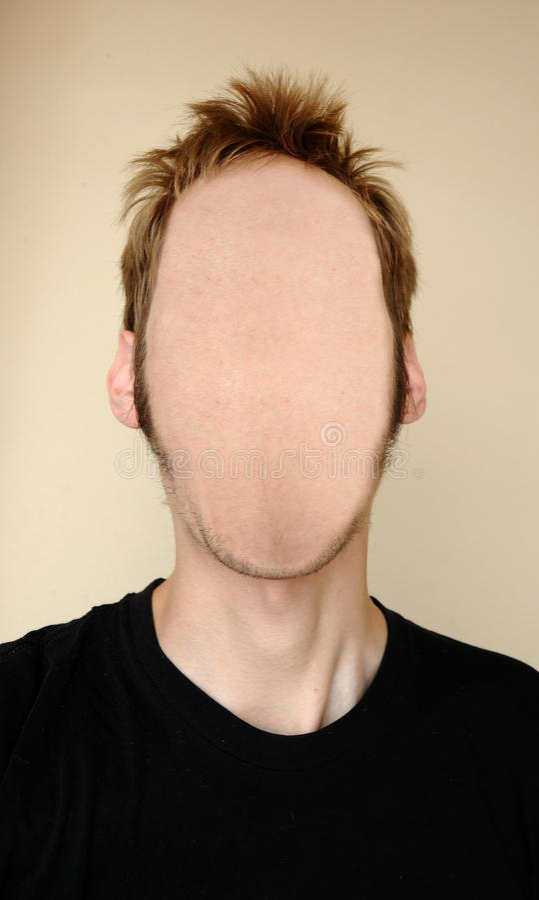 Faceless Head stock photography