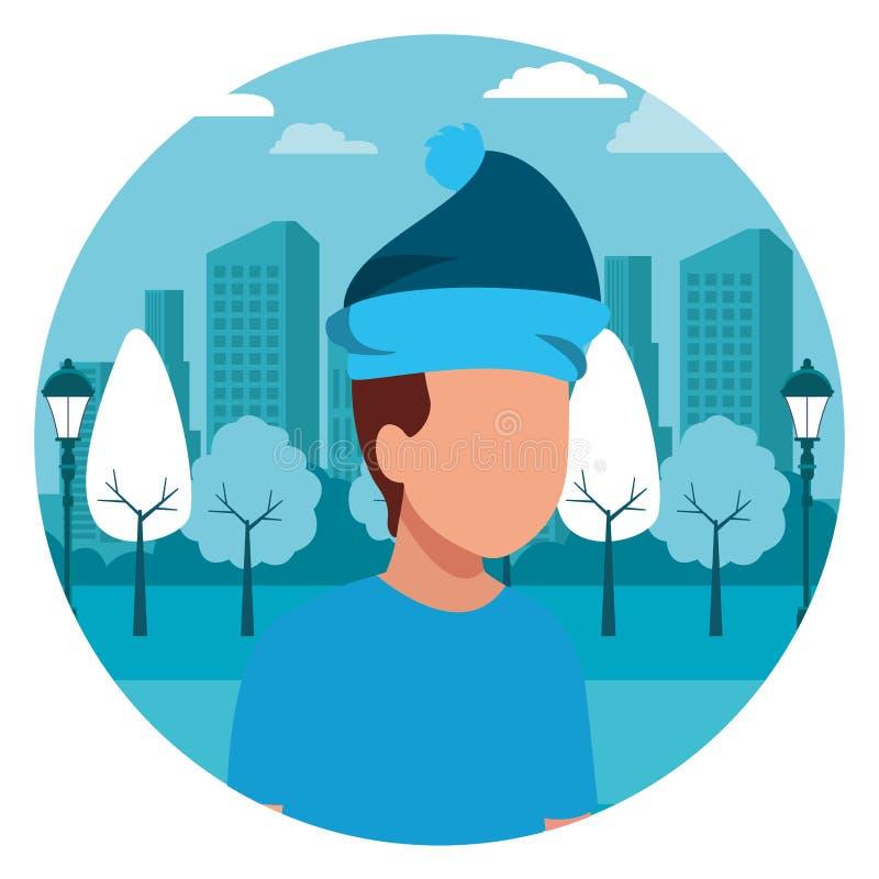 Faceless kid hat. Vector icon illustration graphic design vector illustration