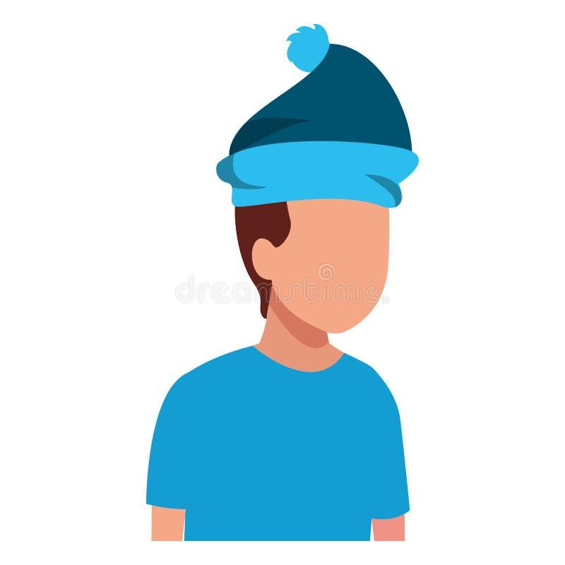 Faceless kid hat. Vector icon illustration graphic design royalty free illustration