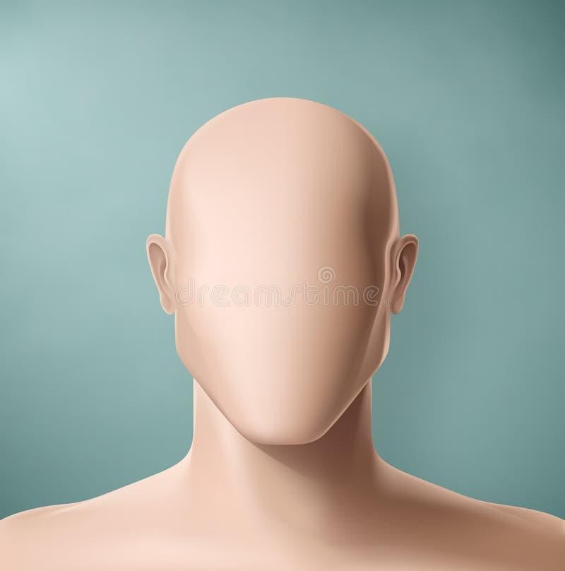 The Faceless. Man portrait faceless, eps 10 royalty free illustration