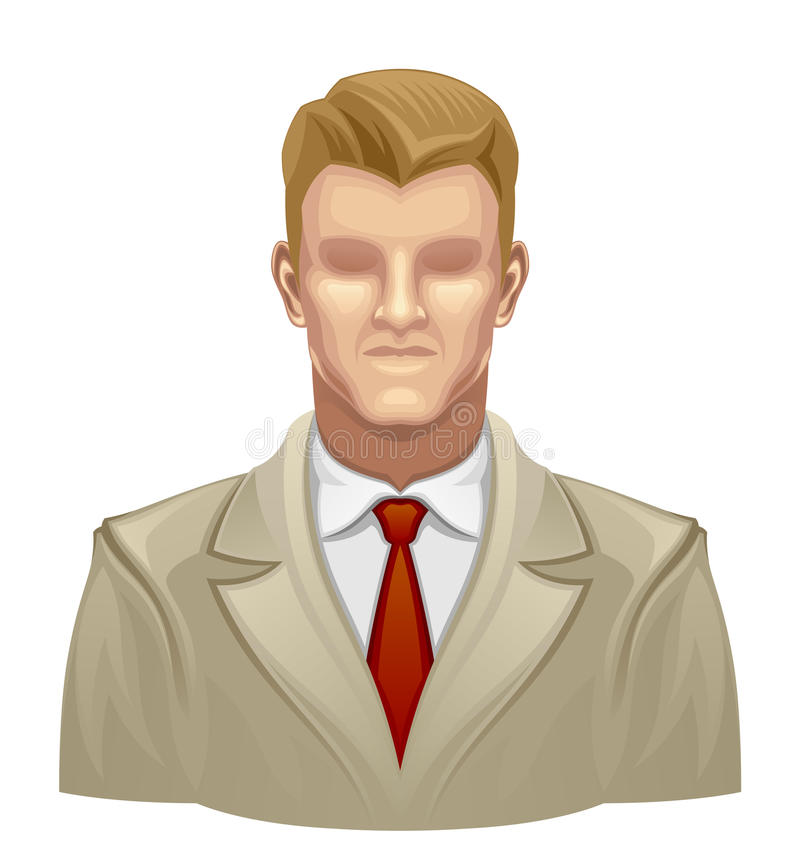 Faceless man. On a white background vector illustration