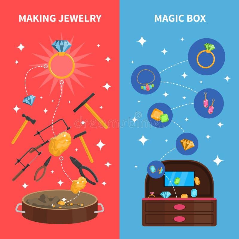 Facendo le insegne dei gioielli messe royalty illustrazione gratis