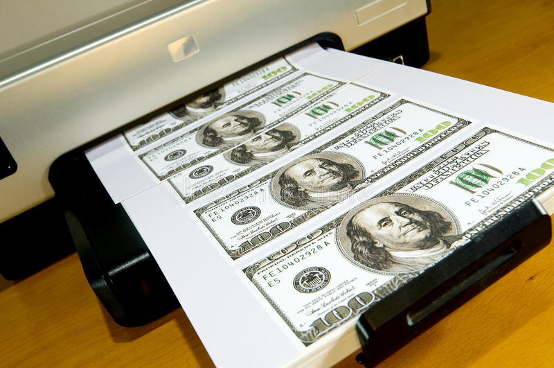 Facendo soldi nel paese fotografia stock