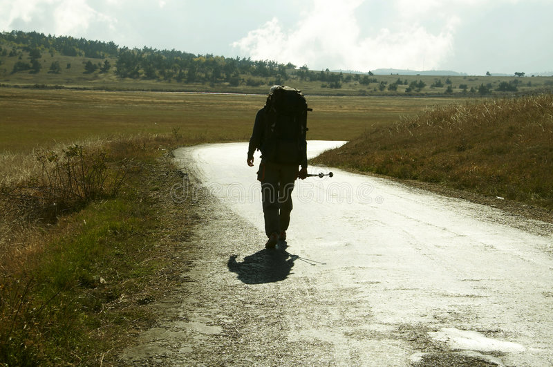 Facendo un'escursione in Crimea fotografia stock libera da diritti