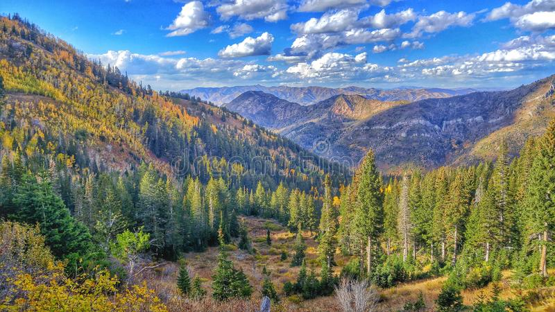 Facendo un'escursione nell'Utah fotografia stock