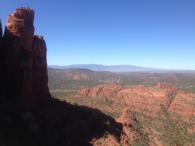 Facendo un'escursione in Sedona, l'Arizona immagine stock