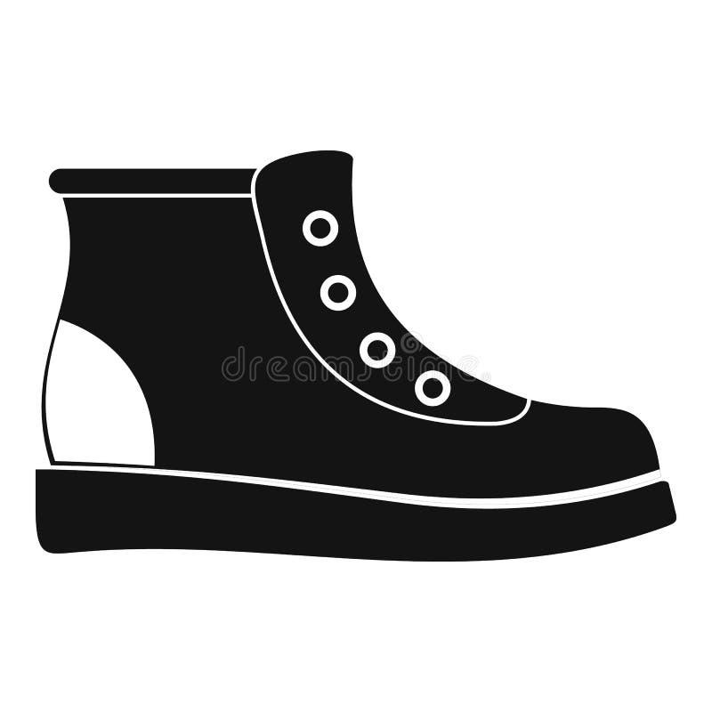 Facendo un'escursione vettore dell'icona degli stivali semplice royalty illustrazione gratis