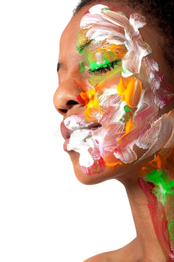 facepaint γυναίκα στοκ εικόνες με δικαίωμα ελεύθερης χρήσης