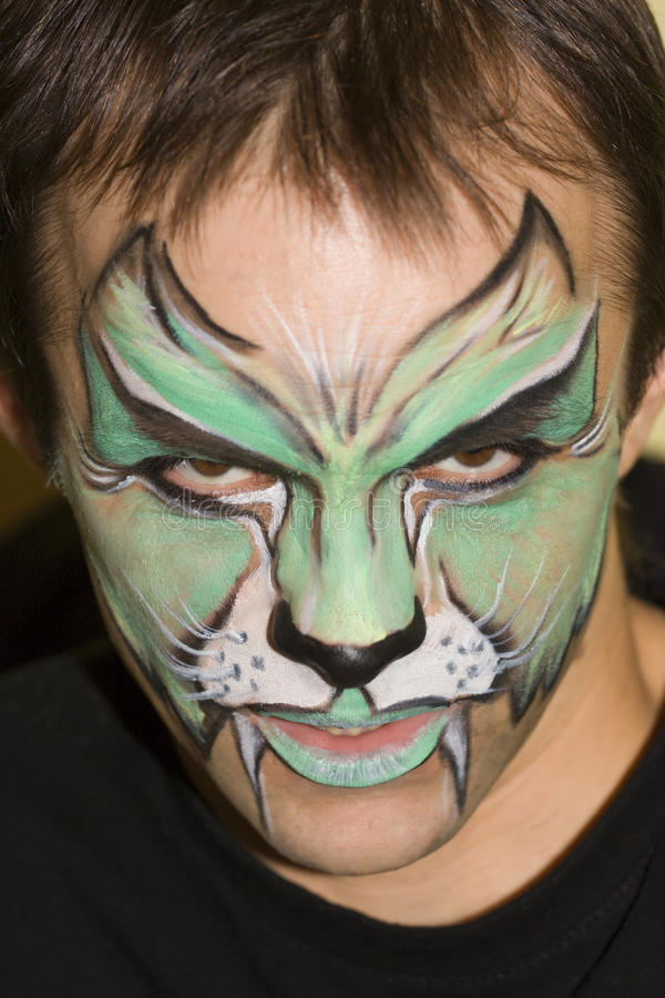 Facepaint stockbilder