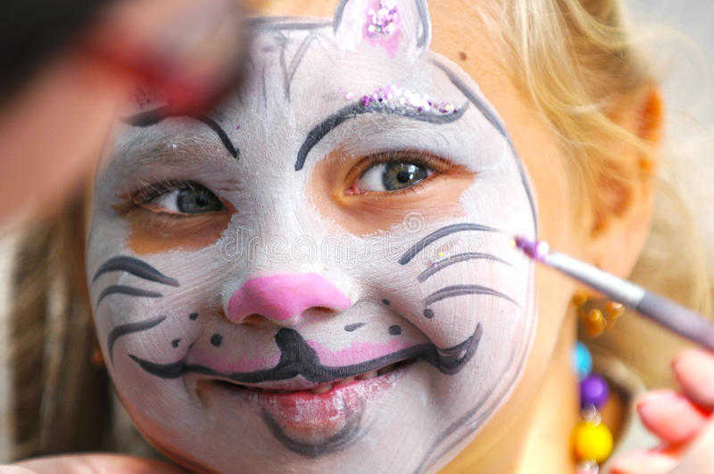 Facepainting stock foto's