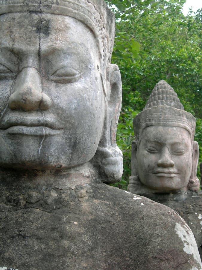 Faces of Angkor stock image