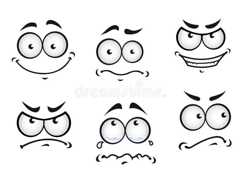 Faces da banda desenhada ilustração do vetor
