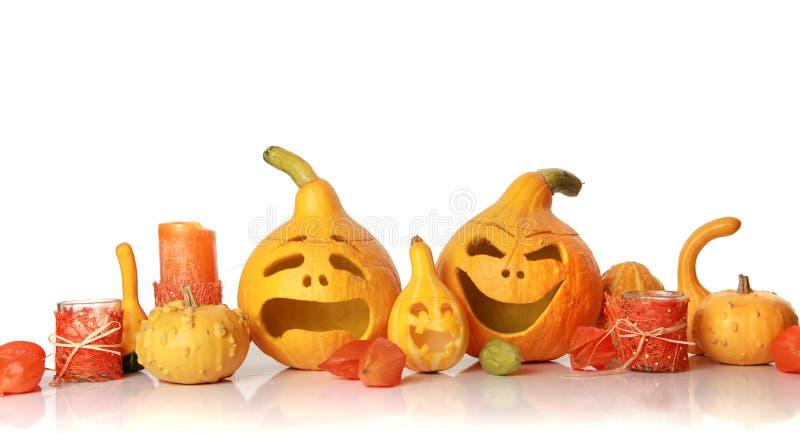 Faces de Halloween fotografia de stock royalty free