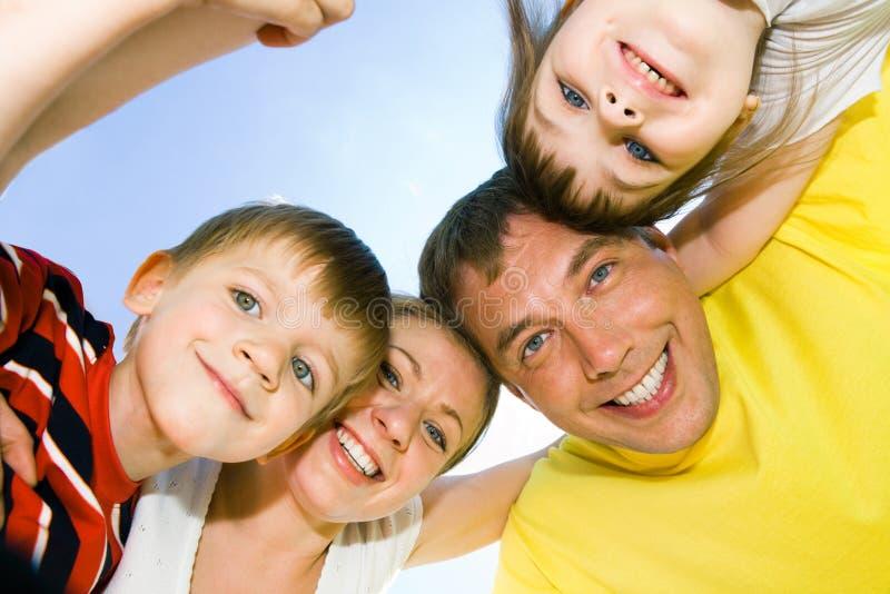 Faces de povos felizes foto de stock royalty free
