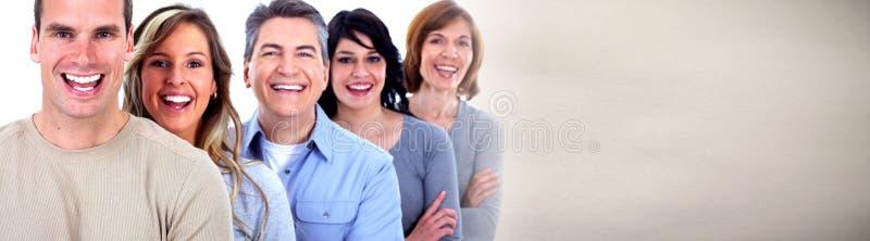 Faces de sorriso dos povos fotografia de stock