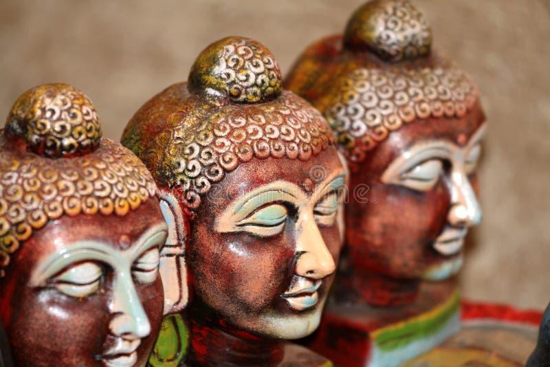 Faces do senhor buddha fotografia de stock royalty free