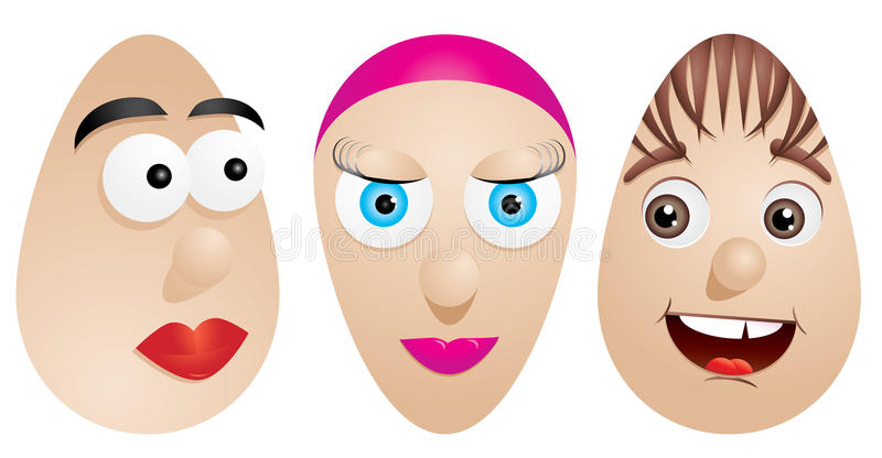 Download Faces on eggs stock vector. Image of color, decor, puppet - 13638247