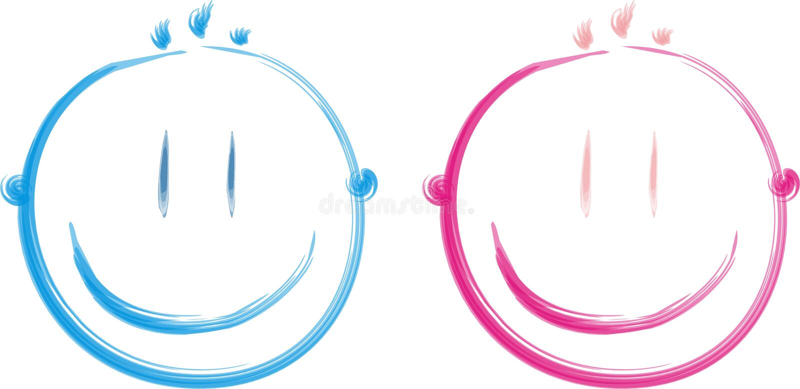 Faces felizes ilustração do vetor