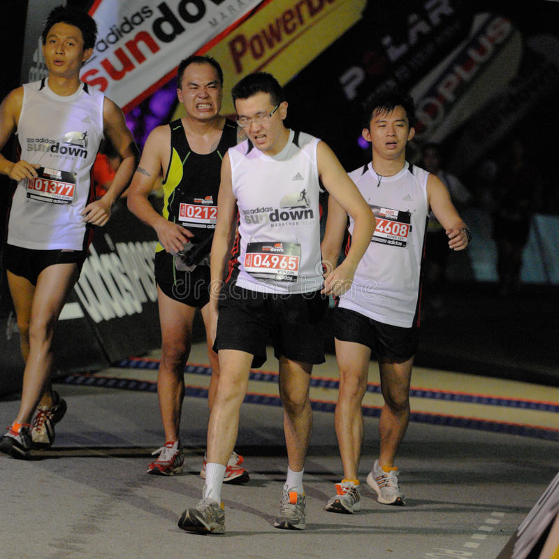 Free Faces Of Pain At The Finish Line Stock Photography - 9592422