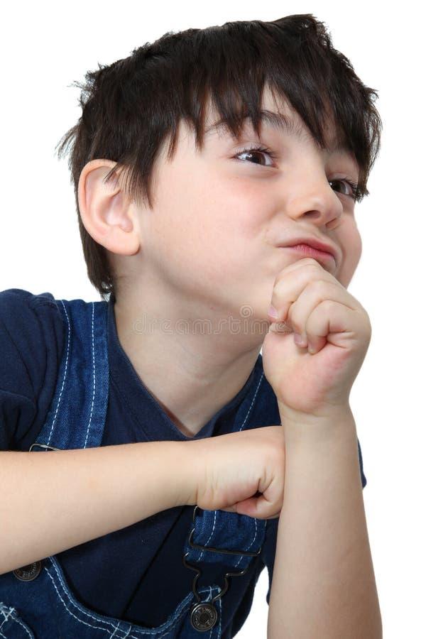 Faces parvas do menino de país imagens de stock
