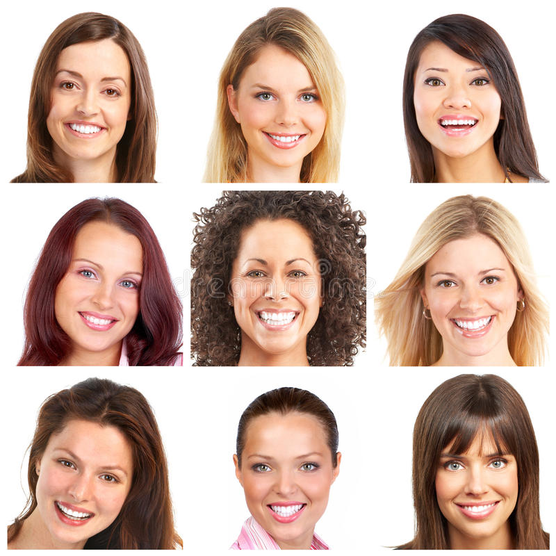 Download Faces, smiles and teeth stock photo. Image of female - 13942088