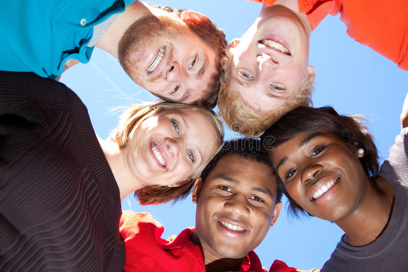 Download Faces Of Smiling Multi-racial College Students Stock Image - Image: 13817137