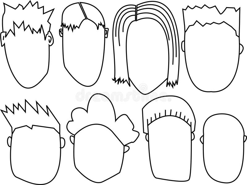 Download Faces Stock stock vector. Image of cartoons, clipart - 16212049