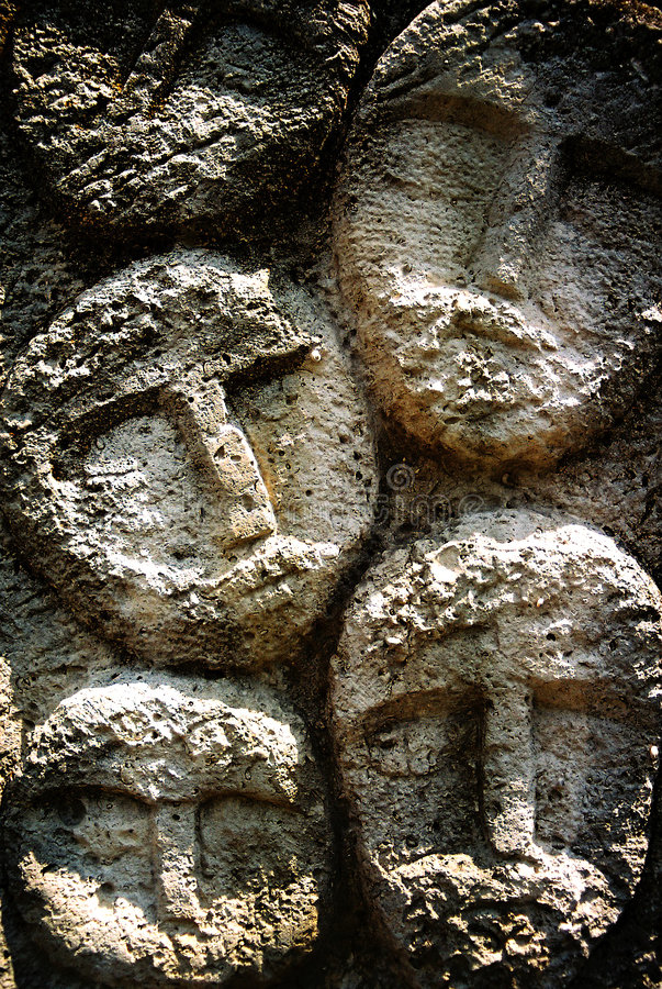 Faces on stone royalty free stock photos