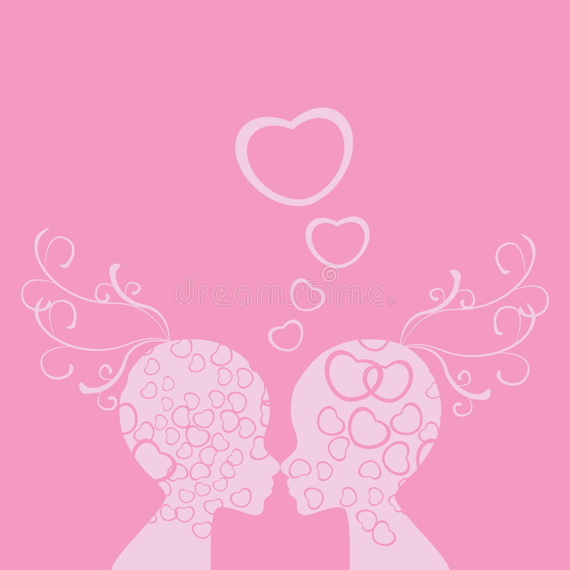 Faces valentine love royalty free stock photo