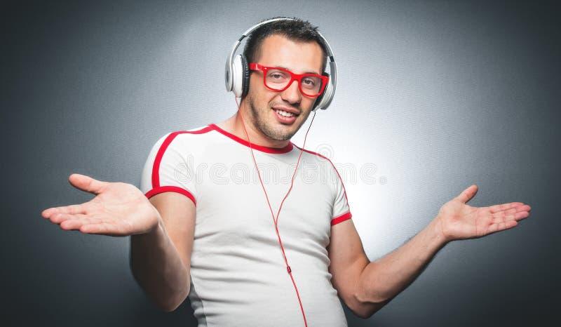 Facet cieszy się w muzyce zdjęcie royalty free