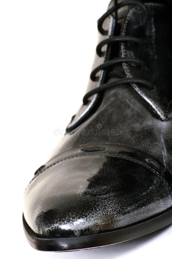 facet jest czarny but obrazy stock